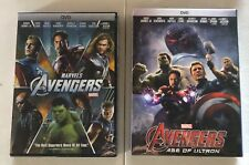 Marvel's: Avengers 1 & Avengers Age of Ultron DVDs (Free USPS Shipping)