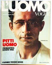 L'uomo Vogue 148 gennaio january 1985 Naseeruddin Shah Girilal Jain India