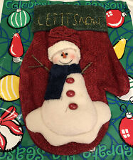 """LET IT SNOW~Snowman Christmas Stocking 12""""~~gift bag included"""