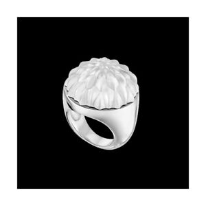 GENUINE LALIQUE Flora Bella Ring, Clear Crystal & Silver Genuine New 10607100