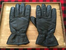 Mens Leather 40 Gram THINSULATE Lined Black Winter Driving Gloves