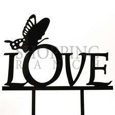 Wedding Cake Topper Butterfly Love Sign Black Acrylic Decoration