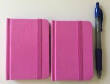 Hardcover Notebook Journal Pink 96 Pages Small 4 X 3 Ruled Pocket Size 2 Pack