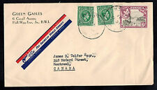 JAMAICA 1953  AIR MAIL COMMERCIAL COVER **HALF-WAY-TREE TO MONTREAL,CANADA*A1109