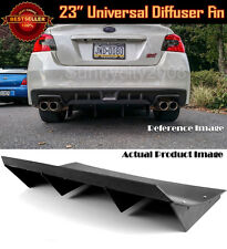 "23"" x 9"" ABS Black Universal Rear Bumper 4 Fins Curved Diffuser For VW Porsche"