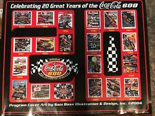 NASCAR SAM BASS 20 YEARS OF COKE 600 PROGRAMS 26 X 30 COLOR POSTER 2004