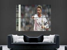 Sergio Ramos Real Madrid FC Football club de arte en pared imagen Grande Poster Gigante