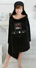 Hooded Bath Towel Wrap Disney Star Wars Galactic Darth Vader Black Plush