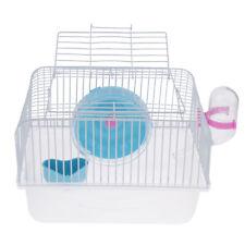 New listing Hamster Gerbil Mouse Cage Breeding Box Guinea Pig Pet House Feeding Blue