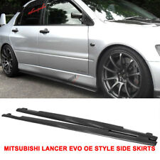 Fits 01-07 Mitsubishi Lancer EVO 7 8 9 OE Style PU Side Skirts Extensions