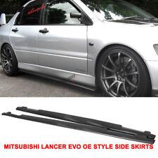 Fits 01-07 Mitsubishi Lancer EVO 7 8 9 OE Style PU Side Skirts Extensions