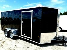 7'x14' Enclosed Trailer Cargo ATV Motorcycle Utility Box Trailers V Nose