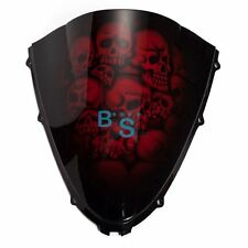 Airbrushed Red Skull Windscreen Windshield Fit Honda Fairing motorcycle BSE