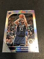 2019-20 NBA Hoops Premium Stock Karl-Anthony Towns Silver Prizm - T-wolves