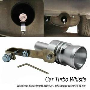 XL Turbo Sound Whistle for 56-85mm Muffler Exhaust Pipe Blow Off Valve Simulator