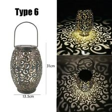Affordable Solar LED Hanging Outdoor Metal Shadow Light or Lantern