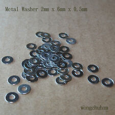 2mm x 6mm x 0.5 mm Metal Washer - 50 Pcs