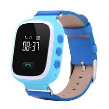 SmartWatch Kinder Uhr GPS Tracker Peilsender Ortung SOS Alarm Anruffunktion Blau