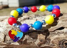 Autism awarness silicone bead Bella Cuff Shamballa bracelet not Rustic Cuff