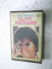 CLIFF RICHARD 20 HITS MISSED on the beach window  1989 RARE CASSETTE TAPE INDIA