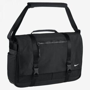 NIKE PBZ745-010 BLACK Eugene Elite PREMIUM Messenger Laptop Bag Cross Body