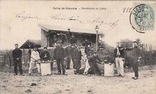 CAMP DE SISSONE militaires soldats timbrée