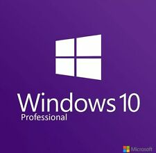 WINDOWS 10 PRO ORIGINAL LICENSE KEY CODE PROFESSIONAL 32 / 64BIT GENUINE OEM COA