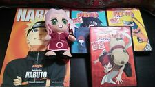 Naruto Movies box set lot + sakura plush Toy and Naruto shippuden artwork book