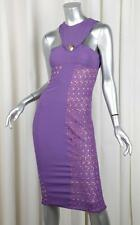 VERSACE x H&M Womens Purple Lace Sleeveless Sheath Cocktail Dress EU 36/XXS NEW