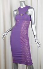 VERSACE x H&M Womens Purple Lace Sleeveless Sheath Cocktail Dress EU 36/XXS NEW