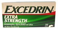 Excedrin Extra Strength 300 Caps Acetaminophen Aspirin Caffeine Pain Reliever
