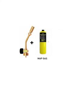 Profire Plumbing Blowlamp Torch & 1 MAP Gas Bottle Heating Soldering Brazing