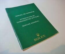 ROLEX 563.81 MANUEL DE GARANTIE International Guarantee Warranty Manual book