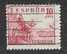 La SPAGNA emissione postale utilizzato EL CID TIMBRO ROSSO definitiva 1936 - 1939