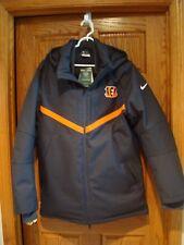NFL Cincinnati Bengals Nike 638954 On Field Storm Fit 550 DOWN Parka Jacket M