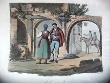 CONTADINI ALLE PORTE DI ROMA,James Godby & Sold Jan.y 1. 1806, P. Van Lerbergh.
