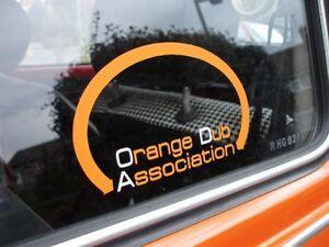 'ODA - Orange Dub Association' Sticker - VW Beetle Club Bug Split Bay Window Bus