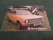 March 1976 MORRIS MARINA 2 1.3 ESTATE - UK COLOUR FOLDER BROCHURE - PUBL 3188