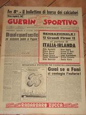 GUERIN SPORTIVO 1957/16 TUTTO SU ITALIA IRLANDA