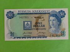 Bermuda $1 6th February 1970 Queen Elizabeth (UNC) A/4 417311