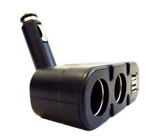 4 in 1 Cigar adapter plug Cigarette lighter Dual outlet and USB Splitter