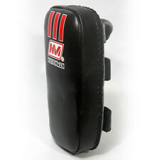 9Muay Thai Kick Boxing Gear Kick Pad Black Genuine Leather