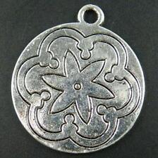24pc 10763 Tibetan Silver Coin Pendants Charms 36x31x2mm