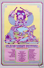 Classic Rock: Jimi Hendrix at Isle of Wight Concert Poster Circa 1970