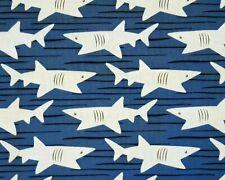 BASKING SHARK Acadia Michael Miller fabric cotton sea ocean craft quilting fish