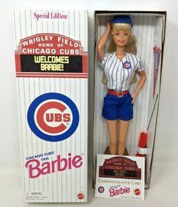 New VTG 1999 Mattel Special Edition Chicago Cubs Fan Barbie Doll #22857 DD21