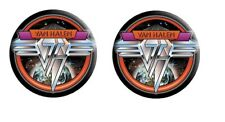 Van Halen -2 Button Badge Set-Collector's-Pinb ack Style-Space Logo-Licensed New