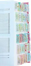 Decorative Bible Tabs GOLD Foil Laminated Indexing Journaling 66 Book 9 Blanks