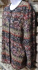 Talbots Womens Top Size 16 Multi Tapestry Long sleeves THINK SPRING Lightweight