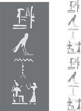 Schablone, Wandschablone, Malerschablone, Dekorfries - Hieroglyphen vertikal
